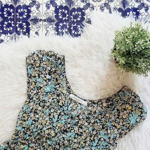 ZARA flower peasant dress
